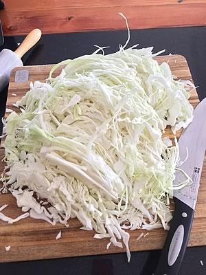 Sauerkraut zum Fermentieren